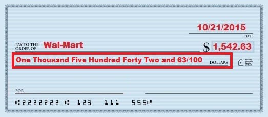 how to write a cheque with cents symbol
