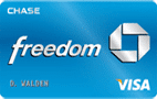 blue chase freedom visa credit card card art