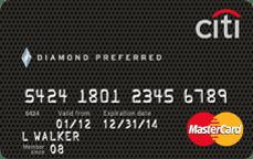 citi diamond preferred mastercard credit card card art