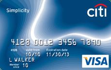 citi simplicity visa credit card card art