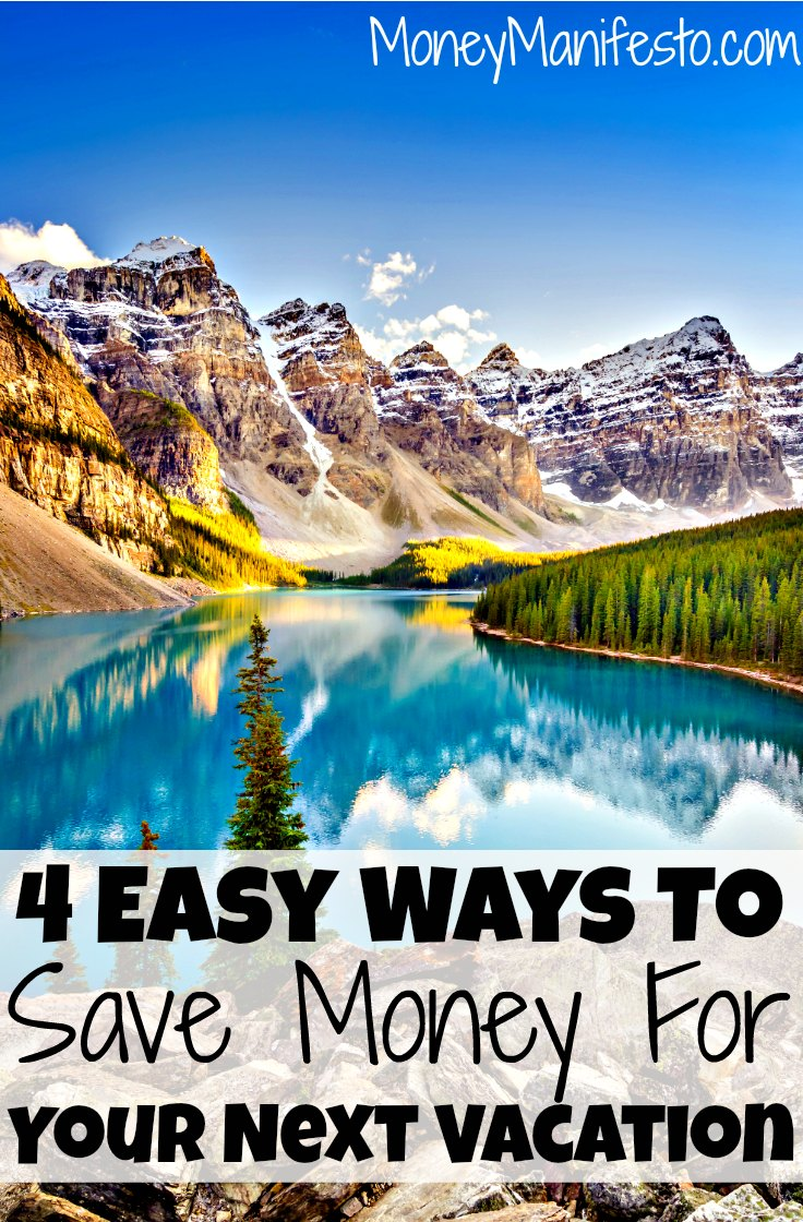 Want to travel without paying off vacation debt when you get home? I share 4 easy ways to save money for your next family vacation so you don't have to go into debt. You can use these tips to save for a Disney World vacation or a cruise vacation. (#4 is my favorite!)