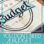 you don't need a budget instead do these 7 things below budget notebook on wood desk