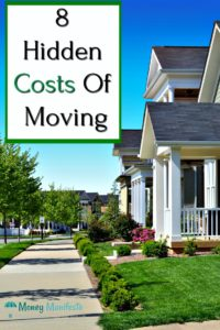 8 hidden costs of moving on a neighborhood street lined with houses, a sidewalk and trees