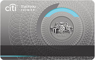 gray citi thank you premier with emblem credit card card art