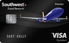 southwest plane on black card southwest rapid rewards premier visa signature credit card card art with emv chip