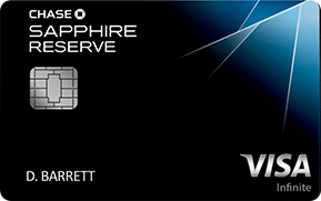 blue and black chase sapphire reserve visa infinite credit card cart art with emv chip