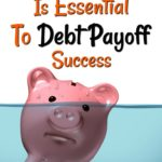 An Emergency Fund Is Essential To Debt Payoff Success above a piggy bank frowning and slowly sinking in water