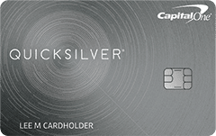 capital one quicksilver credit card card art with emv chip