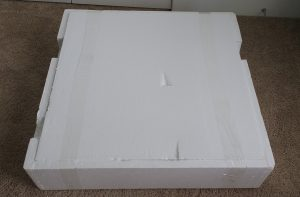 styrofoam shipping package for flexispot sit stand desk riser