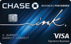 blue chase ink business preferred visa signature business credit card card art with emv chip