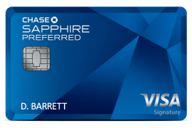 blue chase sapphire preferred visa signature credit card card art with emv chip
