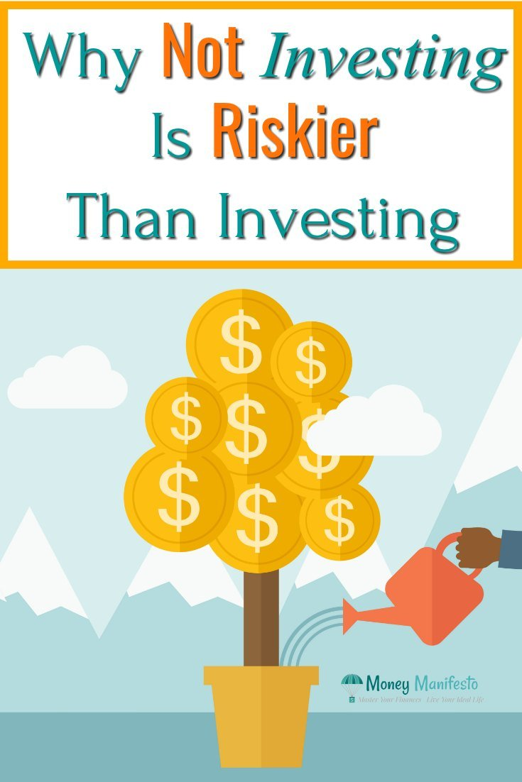 why not investing is riskier than investing above potted money tree being watered