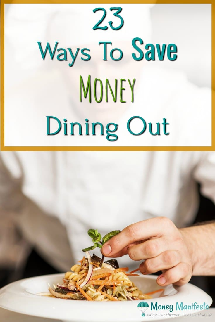 23 ways to save money dining out above chef plating pasta dish