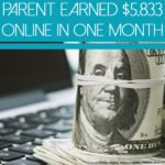 How A Stay At Home Parent Earned $5,833 Online In One Month above hundred dollar bills sitting on a laptop