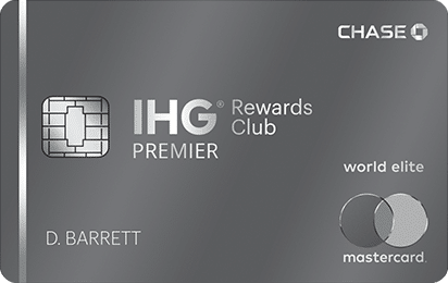 chase ihg rewards club premier world elite mastercard card art with emv chip