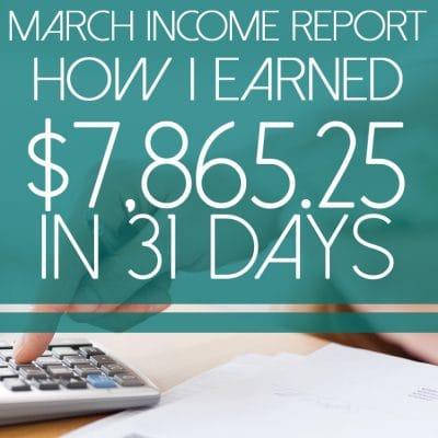 Money Manifesto Blogging Income Report – March 2018