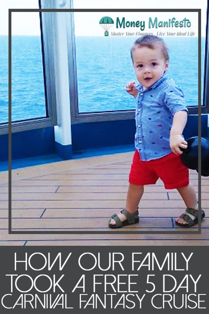 how our family took a free five day carnival fantasy cruise below image of boy running on cruise ship deck