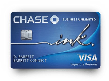 chase ink business unlimited visa signature business card art with emv chip