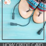 how credit card rewards paid for our five day carnival cruise below flip flops and sea shells on sea blue wood