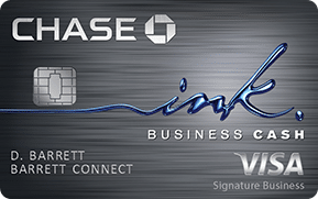 chase ink business cash visa signature business card art with emv chip