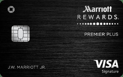 marriott rewards premier plus visa signature card art with emv chip