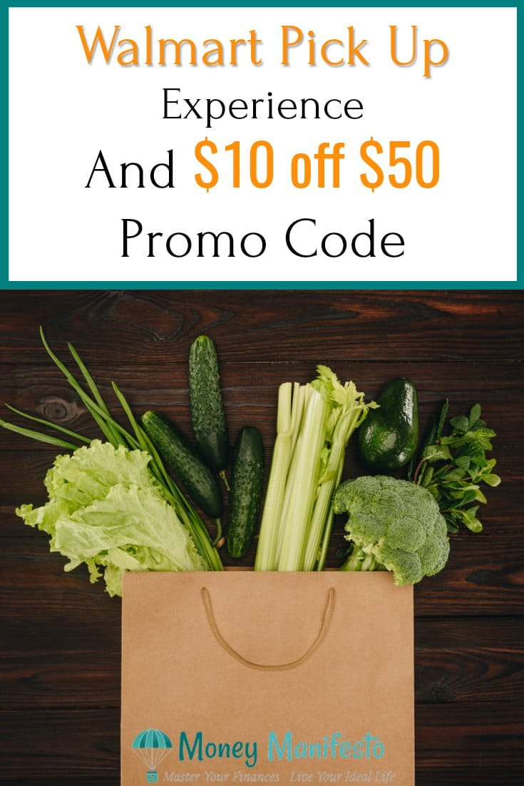 walmart pickup experience and 10 of 50 promo code above bag of vegetables