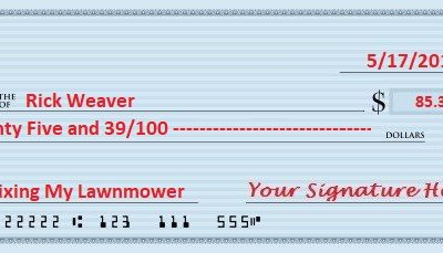 How To Write Out A Check With Dollars And Cents