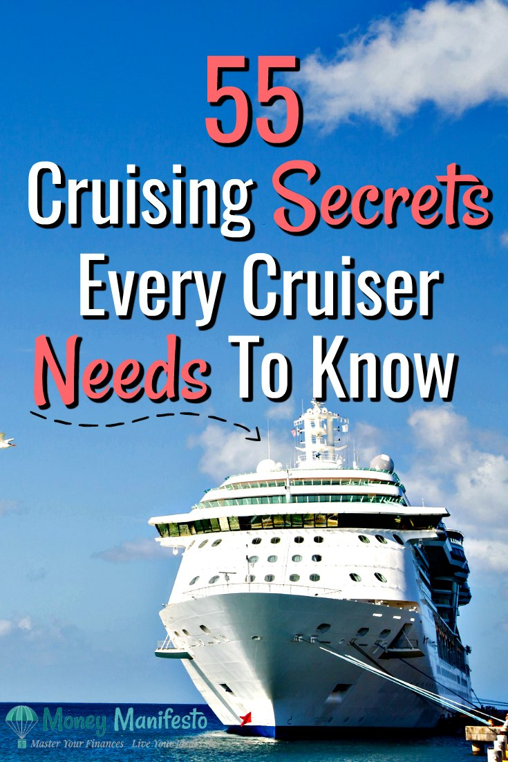 Whether you're a first time cruiser or a veteran cruiser, you need to check out this list of 55 cruise tips, tricks, hacks, ideas and secrets that every cruiser needs to know. Cruising is my family's favorite vacation. It can be super affordable as long as you look for deals and do lots of planning. These secrets apply to most cruise lines including Carnival, Royal Caribbean, Norwegian & Disney. Don't miss out on these tips. #cruise #cruising #firsttimecruise #carnivalcruise
