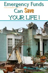 emergency funds can save your life above house destroyed by a tornado or hurricane