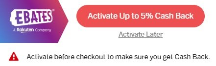 ebates extension activate up to 5% cash back