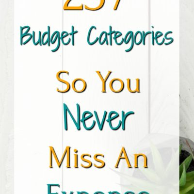 257 Budget Categories To Help You Think Of Every Expense
