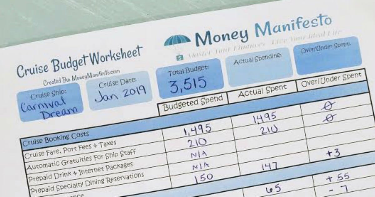 money manifesto's free cruise budget worksheet