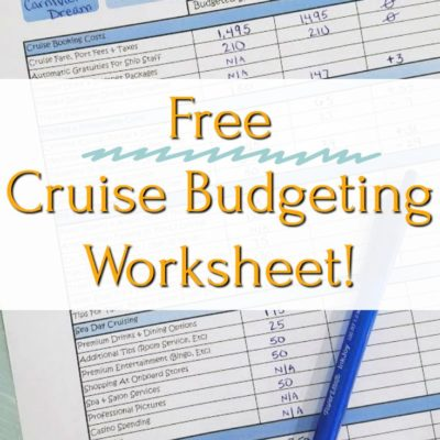 Budget For Your Next Cruise With Our Free Printable