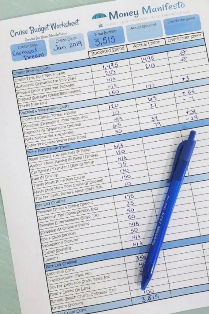money manifesto's free cruise budget worksheet