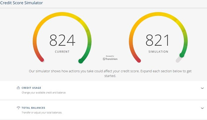 credit score simulator of hard inquiry