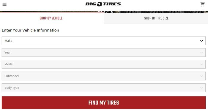 big o tires website