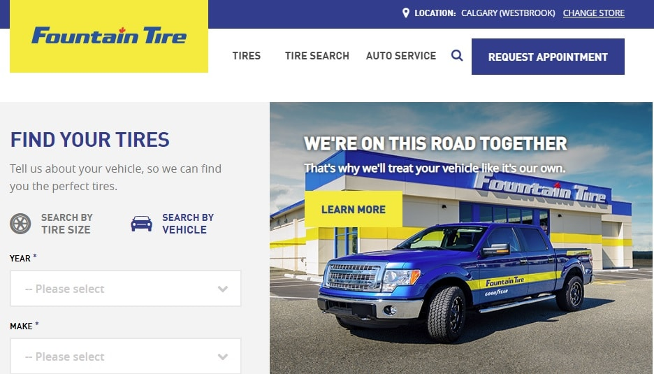 Fountain Tire Website