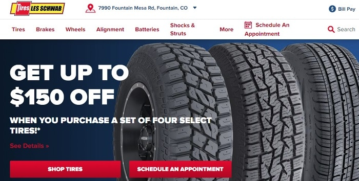 Les Schwab Tires Website