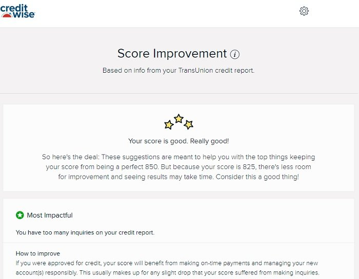 credit score improvement suggestions