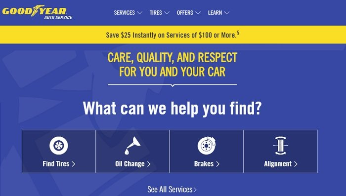 goodyear auto service website