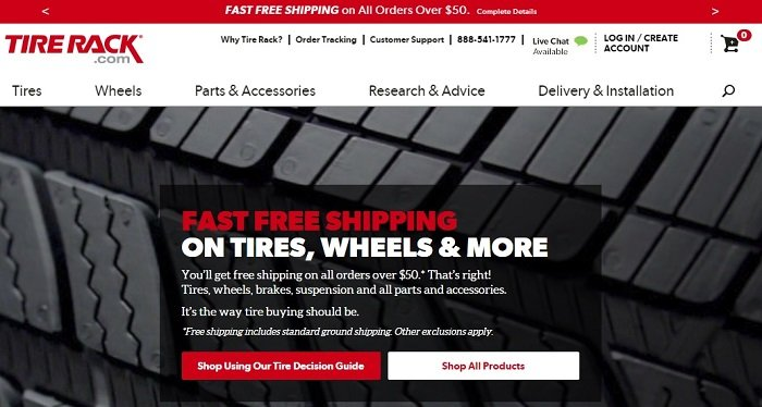 tirerack.com website